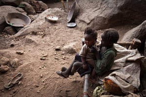 Nuba Mountains Conflict: Children living in the mountains near Tess, South Kordofan, Sudan