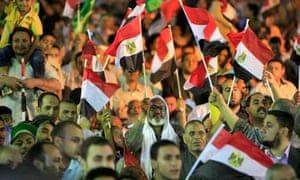 Supporters of the Muslim Brotherhood in Cairo, Egypt.