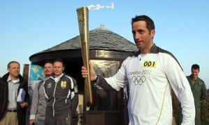 Ben Ainslie with the Olympic torch