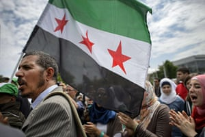 24 hours: Syrians take part in a demonstration against the Syrian regime