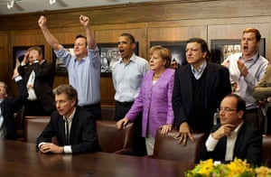 24 hours: Heads of state watch the football in Camp David