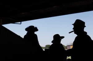 24 hours: Race fans watch preliminary races before the Preakness Stakes  in Baltimore