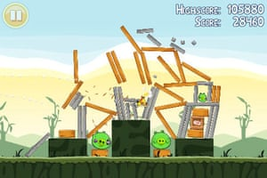 Angry birds - graphic violence