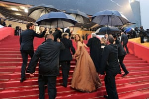 Picture desk live: Isabelle Huppert arrives for the screening of Amour at Cannes