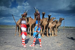 Picture desk live: Members of the Rendille tribe are photographed at the Lake Turkana Festival