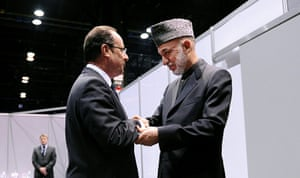 Picture desk live: French President Francois Hollande meets Hamid Karzai at the NATO summit