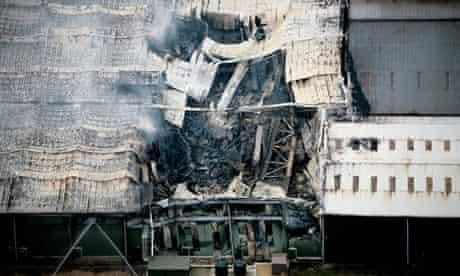 Atherstone warehouse blaze