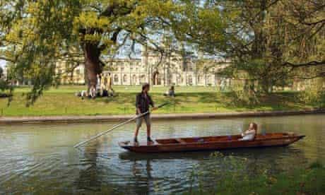 Punts at Cambridge university