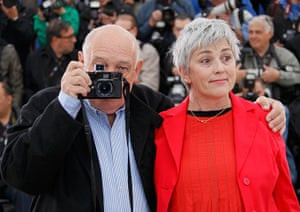 Cannes day 7: Raymond Depardon poses with director Caludine Nougaret