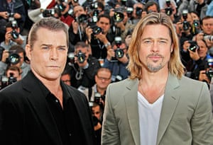 Cannes day 7: Ray Liotta and Brad Pitt pose at the photocall for Killing Them Softly