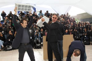 Cannes day 7: The set of Le Grand Soir's photocall is ripped apart