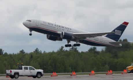A US Airways flight from Paris to Charlotte, North Carolina  diverted to Bangor