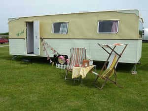 50's celebrations: Mayflower Caravan on the Isle of Wight