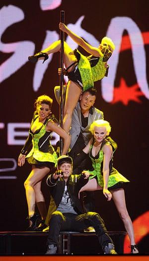 Eurovision semi-final: Austria's hip-hop group Trackshittaz Eurovision