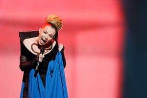 Eurovision semi-final: Rona Nishliu of Albania Eurovision Song Contest 2012