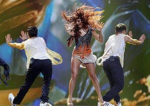 Eurovision semi-final: Eleftheria Eleftheriou of Greece Eurovision Song Contest 2012 in Baku
