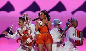Eurovision semi-final: Romania's Mandinga at Eurovision