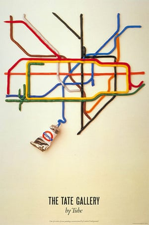 Mind the Map: Poster; The Tate Gallery by tube, by David Booth