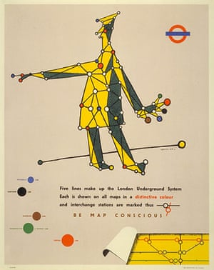 Mind the Map: Poster; Be map-conscious, by Lewitt-Him