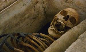 Roman skeleton that inspired Sylvia Plath