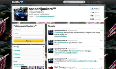 Space Hijackers' Twitter page