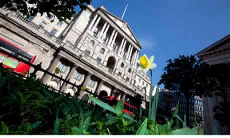 The Bank of England building on Threadneedle Street in the City of London