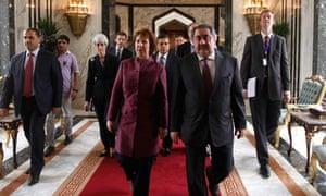 Hoshyar Zebari and Catherine Ashton in Baghdad