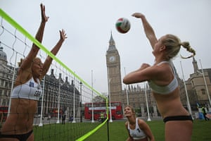 Picture Desk Live: Team GB Female Beach Volleyball Players Launch Road Safety Initiative