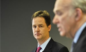 Nick Clegg (left) and Vince Cable