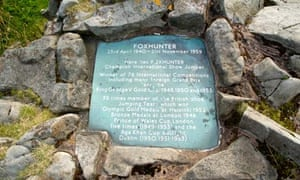 Grave of champion showjumper Foxhunter, Blorenge, Wales