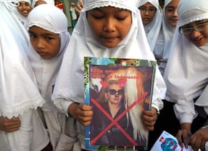 Picture Desk Live: Lady Gaga protest in Indonesia