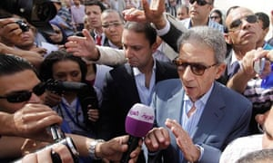 Egyptian presidential candidate Amr Moussa