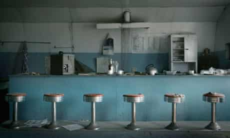 An abandoned 1950s diner