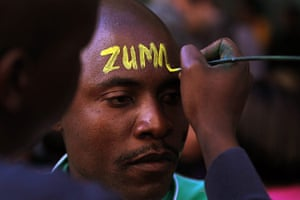 Picture Desk Live: ANC supporter has his face painted in support of Zuma