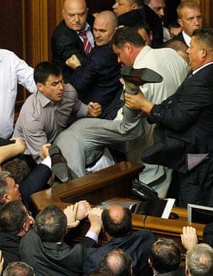 Picture Desk Live: Picture Desk Live: Brawling in Ukraine Parliament