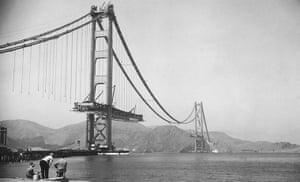 Golden Gate Bridge: The Golden Gate during it's construction