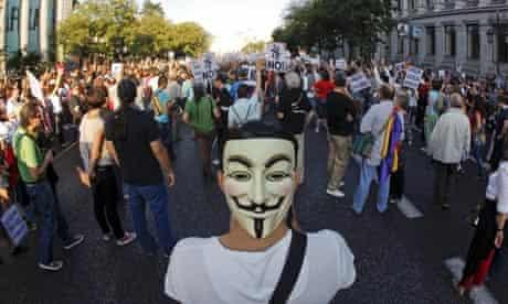 Indignados protest in Madrid