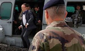 Francois Hollande in Afghanistan