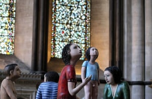 24 hours in pictures: Detail of sculpture 'The Longest Journey' in Salisbury Cathredral