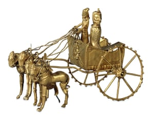 Horse: Gold model chariot from the Oxus Treasure