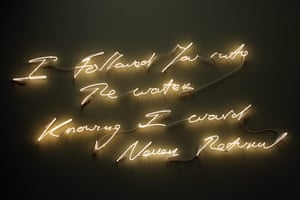 Tracey Emin exhibition: I Followed You Into The Water Knowing I Would Never Return