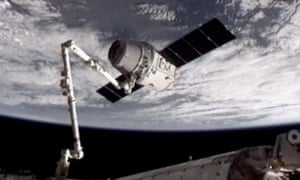 SpaceX Dragon docked