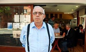 Mr Sakis outside cafe byzantium