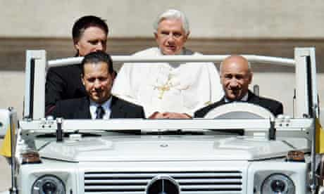 Pope Benedict XVI and Paolo Gabriele (Left, front)
