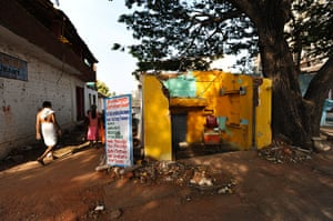 Hampi: A former barber's shop next to the Hampi bazaar