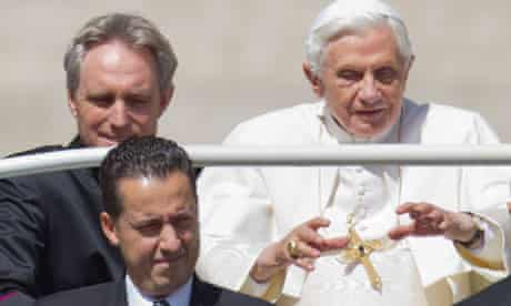 Pope Benedict XVI with Paolo Gabriele and George Gaenswein