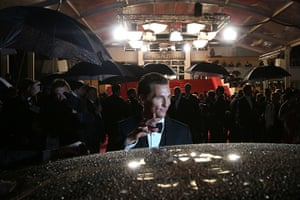 24 hours: Cannes, France: Matthew McConaughey waves as he leaves the Festival Palace