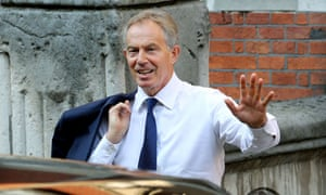 Tony Blair arrives at the Leveson inquiry
