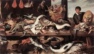 Ocean of Life : Fishmongers by Frans Snyders