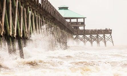 Tropical Storm Beryl brushes past South Carolina